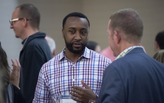 Attendees shared professional experiences at the 2018 Advanced Analytics Summit welcome reception at the Fairmont Pittsburgh on October 11, 2018.