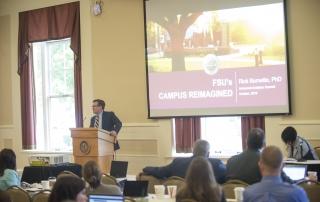 Panelist Rick Burnette presents at the 2018 Advanced Analytics Summit at the University of Pittsburgh University Club on October 12, 2018.
