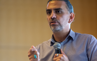 Jaime Casap, education evangelist at Google, delivers the keynote address at the 2018 Advanced Analytics Summit welcome reception on October 11, 2018.